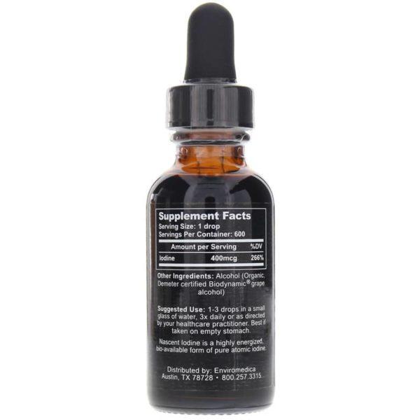 Nascent Iodine Enviromedica label
